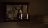 """1x08 Love and Marriage - Margaret (Allison Janney) singing along """"Love and Marriage"""" while serving breakfast."""