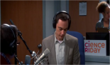 "7x10 The Discovery Dissipation - Sheldon Cooper (Jim Parsons) goes on the air of ""Science Friday"" to talk about a tremendous discovery that he made by mistake"