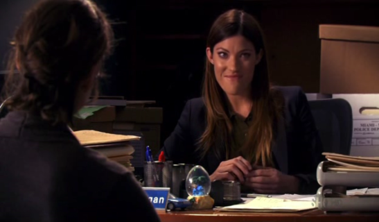 6x06 Just Let Go - Debra Morgan (Jennifer Carpenter) and Dr. Ross (from the back)