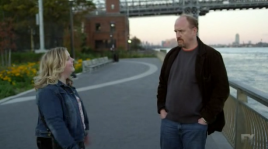 LOUIE: 4x03 So Did The Fat Lady - Louie C.K. (Himself) is speechless when listening to Vanessa's (Sarah Baker) speech about the way society treats fat women.