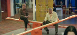 W1A: 1x03 The BBC Controller of News and Current Affairs Neil Reid (David Westhead, right) is busy looking busy in front of Simon Harwood (Jason Watkins), the Director of Strategic Governance