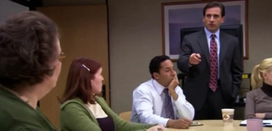 THE OFFICE (US): 3x14 The Return - Michael (Steve Carell), the