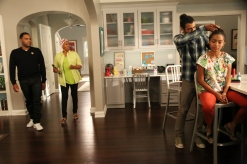 "BLACK-ISH - ""God"" - When Dre discovers that Zoey is questioning her belief in God, he undergoes a crisis of faith and leans on family members and coworkers for their input. Meanwhile, Bow's brother Johan comes to stay with The Johnsons after living abroad and becomes an instant thorn in Dre's side, on ""black-ish,"" WEDNESDAY, SEPTEMBER 28 (9:31-10:00 p.m. EDT), on the ABC Television Network."" (ABC/Mitch Haaseth) ANTHONY ANDERSON, JENIFER LEWIS, DAVEED DIGGS, YARA SHAHIDI"