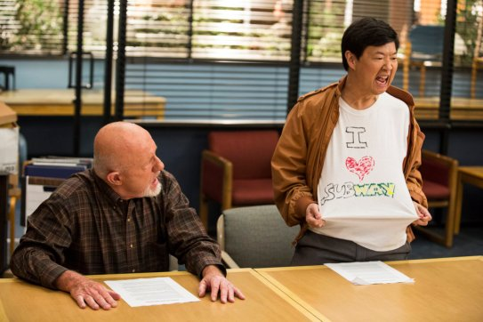 """COMMUNITY -- """"Basic Sandwich"""" Episode 511 -- Pictured: (l-r) Jonathan Banks as Professor Hickey, Ken Jeong as Señor Chang -- (Photo by: Justin Lubin/NBC)"""