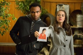 """COMMUNITY -- """"Advanced Documentary Filmmaking"""" Episode 408 -- Pictured: (l-r) Donald Glover as Troy, Alison Brie as Annie -- (Photo by: Michael Desmond/NBC)"""